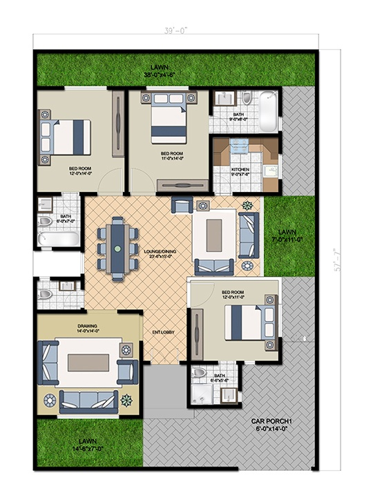Villa 250 Ground Floor Single Story